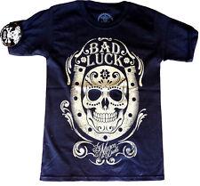 La marca del diablo [Bad Luck Skull] t-shirt rockabilly rocker Harley tatuaje Ink