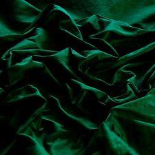"Hunter Green Dupioni 100% Silk Fabric, 44""/54"" Wide, By The Yard (S-111)"