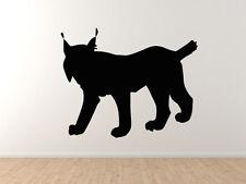 Wild Cat #1- Lynx Hunter Predator Bobcat Eurasian Iberian - Vinyl Wall Decal Art