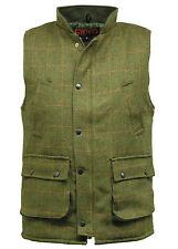 Men's Dark Derby Tweed Hunting Shooting Winter Waistcoat Bodywarmer Gilet New