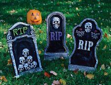 "Creepy Horror 16"" inch TOMBSTONES Foam Halloween Decorations 3 styles"