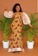 Puff Sleeves African Mermaid Dress, Ankara Long Dress, African Print Dress,Dress