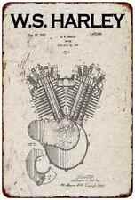 Harley Davidson Patent Vintage Retro Reproduction 8x12 Metal Sign 108120067108