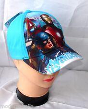 Avengers Marvel BIG cappello con visiera Bambino Baseball tg 52 i 54 blu