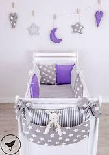 Betttasche / Windelntasche für Babybett Viele Muster Baby Neu LOOLAY