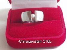 Edelstahl Ring Spannring Perlen Süßwasserperle weißer SWP Bandring breiter 9 mm