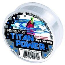 (0,035€/m) 100m ANGELSCHNUR ROBINSON TITAN POWER ULTRA STRONG, MONOFIL SCHNUR