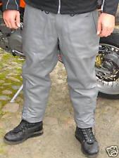 Motorradhose grau Leder  Lederhose  Rindsleder Breeches Gr.58-Kurzgröße