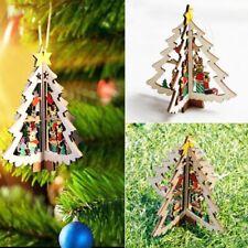 2PCS 3D  Décor De Noël Décorations Pendentif Ornements D'arbre De Noël