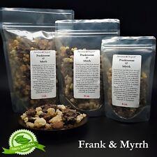 Frankincense and Myrrh Resin Incense Granular Mix 2 oz 8 oz 1 Lb 5 Lb Shaumerio