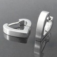 Titan Titanium Klappcreolen Creolen Kreolen Ohrringe Herzen Damen Matt o Glanz 2