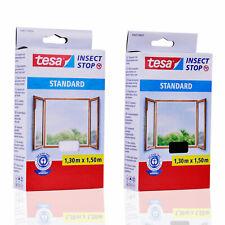 TESA Fliegengitter STANDARD für Fenster ANTHRAZIT / WEIß 1,30m x 1,50m