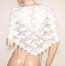 STOLA scialle coprispalle sposa mantella ricamata pizzo velato da cerimonia E150