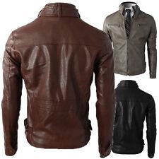 Giacca Giubbotto in Pelle Uomo Men Leather Jacket Veste Blouson Homme Cuir N9e