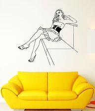 Wall Decal Sexy Girl Beautiful Woman Posing Dress Hot Vinyl Stickers (ed211)