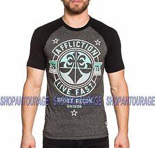 AFFLICTION Never Surrender Sport AS16374 Men`s New Black T-shirt
