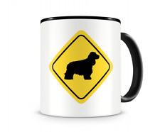 Cocker Spaniel Warnschild Hunde Tasse Kaffeetasse Teetasse Kaffeepott