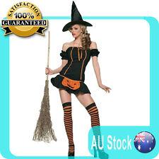 Cute Halloween Girls/Ladies pumpkin Witch Costume - charming
