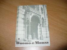 TURISMO GUIDA IL DUOMO DI MONZA BASILICA E TESORO DI S.GIOVANNI BATTISTA 1956