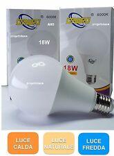 LAMPADA LAMPADINA  LED E27 18W  GOCCIA BULBO A80 SMD 18W = 150W  1620 LUMEN