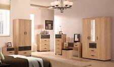 Pacific Golden Oak Bedroom Furniture Range Wardrobe Chest Bedside Dresser