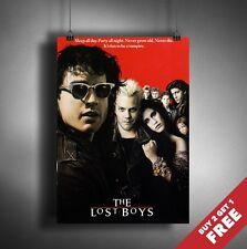 The Lost Boys 1987 Movie Poster A3 A4 * Clásico Antiguo Vintage de película de vampiros de impresión