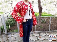 Women's light jacket kaftan vintage uzbek handmade from 100% cotton ikat fabric
