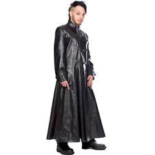 Black Pistol Gothic Punk Kunstleder Mantel Trenchcoat - Closure Coat Sky