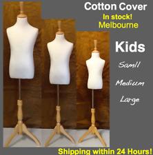 Unisex Kids Boy Girl Child Mannequin Torso Clothe Dress Form Tripod Wooden Stand