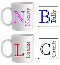 Personalised Any Name & Initial Mug/Coaster Birthday Christmas Teacher Present