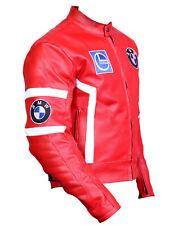 BMW Hommes Moto Cuir Veste  Cuir de vachette Armures Courses Des sports Veste