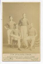 1872 CDV PHOTO: N.Y.  ATALANTA CLUB ROWING CREW WHO CHALLENGED LONDON BOAT CLUB