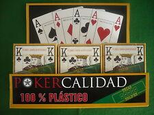 12 BARAJAS POKER,100% Plastico, Calidad ,Votos ++++100% En Tienda +100 €. Holdem