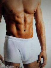 Calvin Klein NEW Mens U3052 100% Cotton  Boxer Briefs White/Black Front  Fly