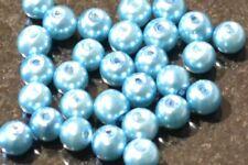 Aqua Round Glass Pearl Beads 4mm 6mm 8mm 10mm Premium Quality Weddings Crafts
