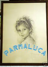 (PRL) G. TARANTINO 1974 CARBONCINO ARTE ART VOLTO BIMBA QUADRO COLLEZIONE FRAME