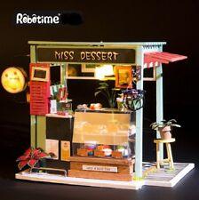 Robotime DIY 3D Model Kit with LED Light Miniature Woodcraft Gift Dessert Shop