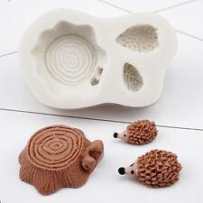 Hedgehog Stump Silicone Fondant Cake Mould Chocolate Baking Sugarcraft DIY Mold