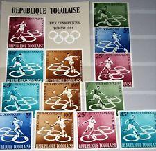 TOGO 1964 435-39 A-B Block 15 491-94 C43 Olympics Tokyo Sport Soccer Tennis MNH