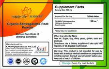 ORGANIC Ashwagandha Root Powder (Withania somnifera) Anti-stress