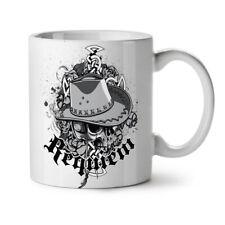 Final Requiem Skull Cowboy Dead NEW White Tea Coffee Mug 11 oz | Wellcoda