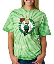 "Tie-Dye GREEN Larry Bird Boston Celtics ""LOGO"" T-Shirt  Shirt"