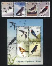 KOSOVO UN 2010 Issue MNH Birds Set of 4 + S/S