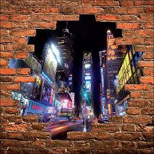 Sticker mural trompe l'oeil mur de pierre déco New York  réf 910