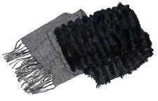 hochwertiger Lurexschal mit Kanichenfell Schall Schalls echter Pelz