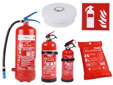 Brandschutz Rauchmelder/Löschdecken/Piktogramme/Feuerlöscher (Pulver/Schaum/CO2)