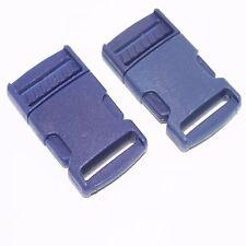 Navy Blue Buckle Plastic Clip Craft Webbing Paracord Bag Strap 25mm Side Release