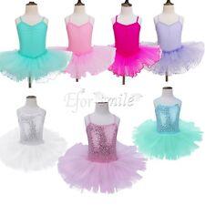 Kinder Mädchen Ballettkleid Ballettanzug Tüllrock Tütü Rock Prinzessin Kostüm