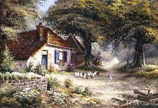 Reint Withaar: Fairy like cottage Keilrahmen-Bild ländlich Bauernhaus Idylle