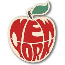 2 x New York Big Apple Vinyl Sticker Laptop Travel Luggage #4071